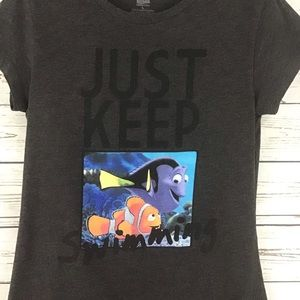 Disney Nemo Dory Just Keep Swimming Shirt for sale